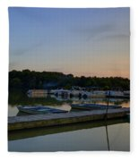 Dusk Dock 20140718 Fleece Blanket
