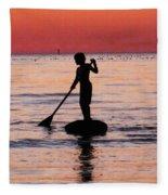 Dusk Float - Sunset Art Fleece Blanket