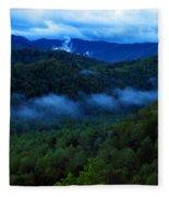 Dusk In The Smoky Mountains   Fleece Blanket