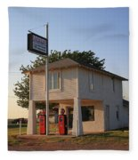 Dusk On Route 66 Fleece Blanket