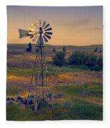 Dusk On The Prairie Fleece Blanket