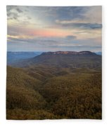 Dusk Over Mount Solitary Fleece Blanket