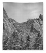 Dusted Flatiron In Black And White  Fleece Blanket