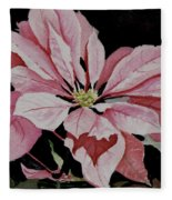 Dustie's Poinsettia Fleece Blanket