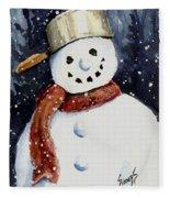 Dustie's Snowman Fleece Blanket