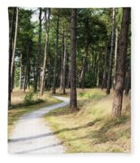 Dutch Country Bicycle Path Fleece Blanket
