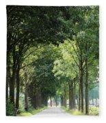 Dutch Landscape - Country Road Fleece Blanket