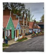 Dutch Shops On Windmill Island In Holland Michigan Fleece Blanket