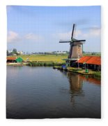 Dutch Windmills Fleece Blanket