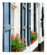 Dutch Window Boxes Fleece Blanket