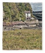 Dylan Thomas Boathouse At Laugharne 2 Fleece Blanket