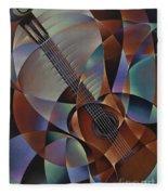 Dynamic Guitar Fleece Blanket