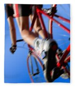 Dynamic Racing Cycle Fleece Blanket