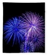 Radiant Hues Explode Fleece Blanket