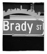 E Brady St Fleece Blanket