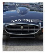 E Type Jaguar V12 Fleece Blanket