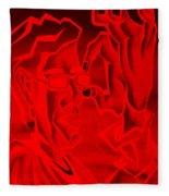 E Vincent Negative Red Fleece Blanket