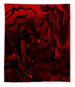 E Vincent Red Fleece Blanket