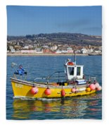 E201 Coming Into Harbour Fleece Blanket