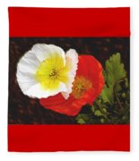 Eager Poppies Fleece Blanket