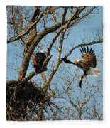 Eagle And The Fish 2 Fleece Blanket