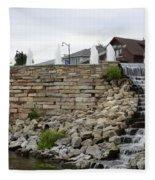 Eagle Center Waterfalls Fleece Blanket