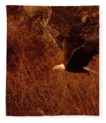 Eagle In Flight Fleece Blanket