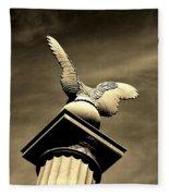Eagle In Stone Fleece Blanket