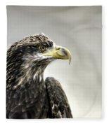 Eagle In The Mist Fleece Blanket