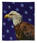 Eagle In The Starz Fleece Blanket