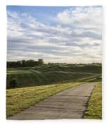 Eagle Knoll Golf Club - Hole Four Fleece Blanket