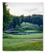 Eagle Knoll - Hole Fourteen From The Tees Fleece Blanket