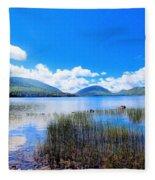 Eagle Lake In Acadia Fleece Blanket