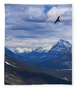 Eagle Over Peyto Lake Fleece Blanket