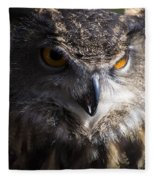 Eagle Owl 2 Fleece Blanket