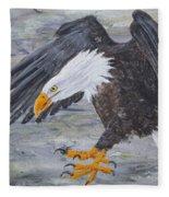 Eagle Study 2 Fleece Blanket