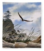 Eagles Home Fleece Blanket