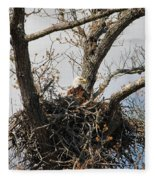 Eagles Watchful Eye 2 Fleece Blanket