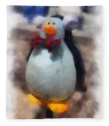 Ear Muff Penguin Photo Art Fleece Blanket