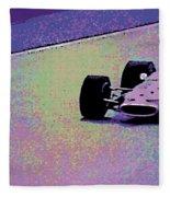 Early 60's Era Formula 1 Race Fleece Blanket