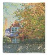 Early Autumn Home Fleece Blanket