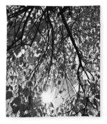 Early Autumn Monochrome Fleece Blanket
