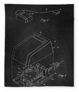 Early Computer Mouse Patent 1984 Fleece Blanket