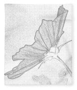 Early Dawns Light On Fall Flowers Bw Fleece Blanket