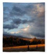 Early Evening Near Ashland Fleece Blanket