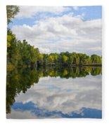 Early Fall Reflections Fleece Blanket