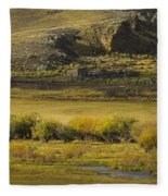 Early Fall Sunrise Fleece Blanket