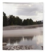 Early Fog Fleece Blanket