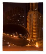 Early Hours In Chicago Fleece Blanket