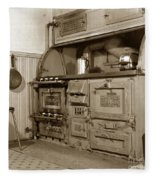 Early Kitchen With A Gas Stove 1920 Fleece Blanket